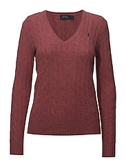 Cable Wool-Cashmere Sweater - RED SLATE HEATHER