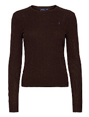 Cable Wool-Cashmere Sweater - CEDAR HEATHER