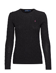 Cable Wool-Cashmere Sweater - CHARCOAL HEATHER