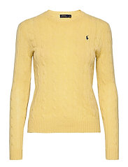 Cable Wool-Cashmere Sweater - FALL YELLOW