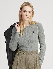 Polo Ralph Lauren - Cable Wool-Cashmere Sweater - tröjor - fawn grey heather - 0