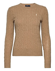 Cable Wool-Cashmere Sweater - LUXURY BEIGE HEAT
