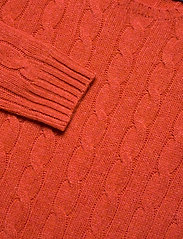 Polo Ralph Lauren - Cable Wool-Cashmere Sweater - jumpers - orangey red - 2