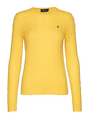 Cable Wool-Cashmere Sweater - RACING YELLOW