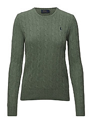 Cable Wool-Cashmere Sweater - RESORT GREEN HEAT