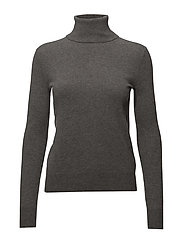 Cashmere Turtleneck Sweater - ANTIQUE HEATHER