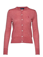 Merino Wool Cardigan - RED SLATE HEATHER