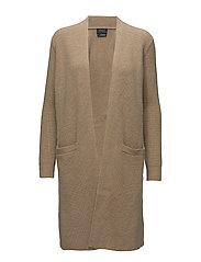 Wool-Cashmere Cardigan - CAMEL MELANGE