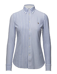 Multi-Stripe Knit Oxford Shirt - HARBOR ISLAND BLU