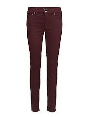 Tompkins Sateen Skinny Jean - VINTAGE BURGUNDY
