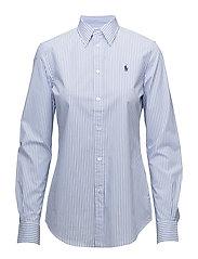 Stretch Slim Striped Shirt - 556A SPRING BLUE/