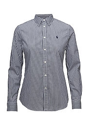 Stretch Slim Striped Shirt - 556F NAVY/WHITE