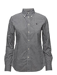 Slim Fit Gingham Poplin Shirt - 566D BLACK/WHITE