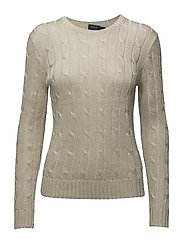 Metallic Cable-Knit Sweater - METALLIC TAUPE