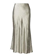 Flared Velvet Skirt - DESERT GREY
