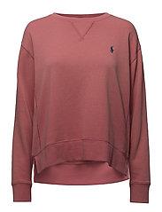 Fleece Crewneck Sweatshirt - SUN RED