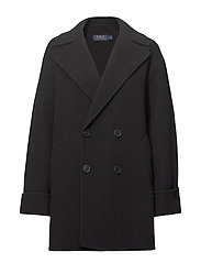 Double-Breasted Merino Coat - POLO BLACK