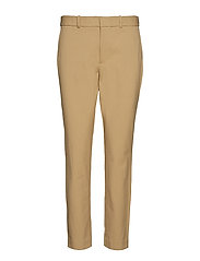 High-Rise Twill Straight Pant