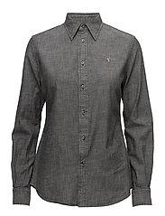 Slim Fit Chambray Shirt - SULFUR BLACK