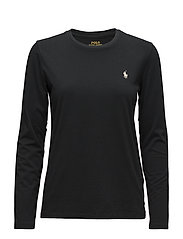 Cotton Long-Sleeve T-Shirt - POLO BLACK