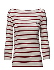 Striped Boatneck T-Shirt - NEVIS/MARTIN RED
