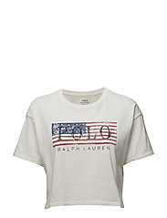 Flag Cropped Cotton T-Shirt - NEVIS