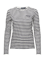 Striped Long-Sleeve T-Shirt - CRUISE NAVY/NEVIS