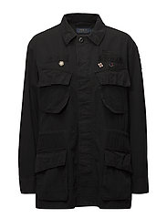 Patchwork Military Jacket - POLO BLACK