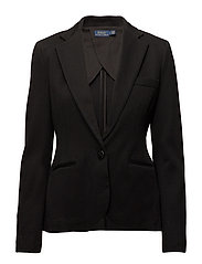 Peplum Jacquard Jacket - POLO BLACK