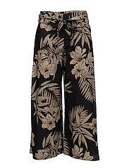 Linen-Blend Wide-Leg Pant - HAWAIIAN FLORAL