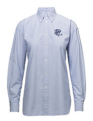 Monogrammed Oxford Shirt - BLUE HYACINTH