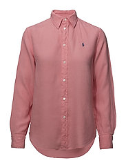 Relaxed Fit Linen Shirt - RIBBON PINK