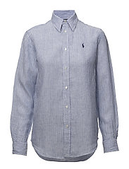 Relaxed Striped Linen Shirt - 604 MAIDSTONE BLU