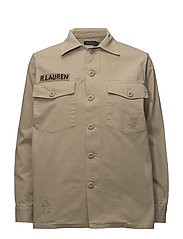 Cotton Military Shirt - MONUMENT TAN