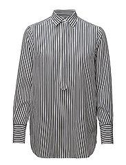 Striped Silk Shirt - LT NAVY/NEVIS STR