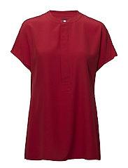 Silk Short-Sleeve Blouse - RL 2000 RED