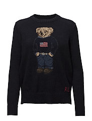 Polo Bear Cotton-Linen Sweater - NAVY MULTI