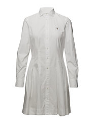Oxford Cotton Shirtdress - WHITE