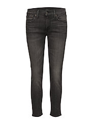 The Tompkins Skinny Crop - WASHED BLACK