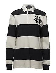 Monogram Cotton Rugby Shirt - POLO BLACK/DECKWA
