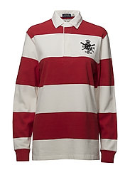 Monogram Cotton Rugby Shirt - RL2000 RED/DECKWA