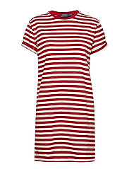 Jersey Striped Dress - RL2000 RED/DECKWA