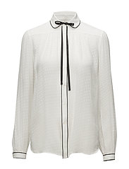 Neck-Tie Silk Button-Down - TROPHY CREAM