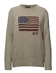 Flag Rollneck Sweater - OATMEAL MULTI