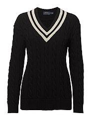 Cricket Cotton Sweater - BLACK/CREAM