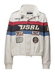 Canvas Racing Jacket - WHITE/BLUE/RED/BL