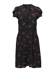 Cherry-Print Crepe Dress - CHERRY PRINT