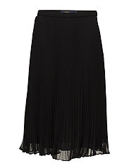 Georgette Pleated Skirt - POLO BLACK