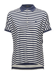 Striped Poncho Mesh Polo Shirt - DECKWASH WHITE/LI