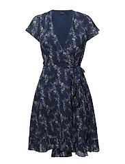Floral Gauze Wrap Dress - SUN FADE FLORAL